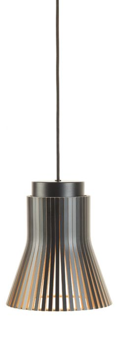 Petite 4600 pendant, black laminated finish.