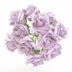 Foam Roses Bunch Lilac 12 Pack - R091