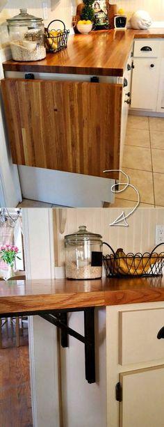 Supreme Kitchen Remodeling Choosing Your New Kitchen Countertops Ideas. Mind Blowing Kitchen Remodeling Choosing Your New Kitchen Countertops Ideas. Kitchen Counter Diy, Kitchen Cabinet Remodel, New Kitchen Cabinets, Kitchen On A Budget, Kitchen Countertops, Counter Tops, Counter Space, Kitchen Storage, Desk Storage