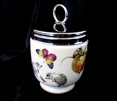 """Vintage Royal Worcester King Size Egg Coddler, """"A Skippety Tale"""" by TheWhistlingMan on Etsy"""