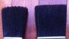 Corona Brush UK – about natural bristle brushes. Traditional Painter article, which brush is which in the picture?