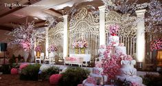 This is incredible! Unique work by  The Swan Design and Decoration http://www.bridestory.com/swan-design-and-decoration/projects/sakura-garden-theme