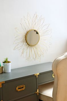 Look For Less: Anthropologie-Inspired Starburst Mirror | Happy Crafting | Blitsy