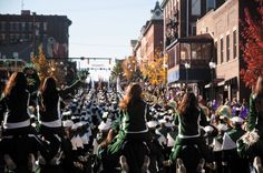 Homecoming weekend offers many scheduled events, like the parade down Court, as well as more college-like shindigs.  Photo by Dustin Franz, The Athens News.