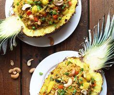 Healthy ananassalade op Thaise wijze