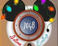 Christmas ears! Download now: Disney Cruise Door magnets by Alluna