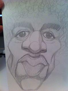 Caricature Jimmy Hendrix