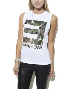 Eminem Camo Tank from Wet Seal Eminem Eminem marshall mathers slim shady b-rrabit stan https://www.facebook.com/pages/Eminem-Soldiers-Colombia/1426507957568769?ref=hl Just for Eminem Soldiers! (Y)