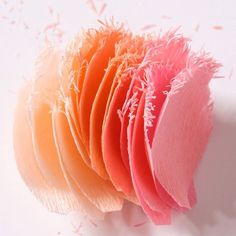 Petals for some fringed tulips #paperflowers