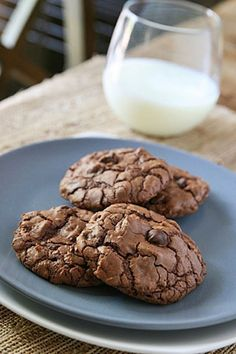 chocolate chocolate chip cookies | @Alison Lewis