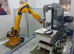 New polishing robot, also called as Robotic polishing, designed by IKV will have flexible polishing force compensation of polishing machine and robots, sensors, controllers intelligent manufacturing systems. Conducting complex surface of the workpiece during the polishing process than conventional mechanical polishing and hand polished to better ensure.