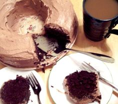 Cocoa Coffee Frosted Bundt Cake