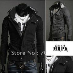 2012 Free shipping New Style HOT SALE Men's Hoodie Fleece Hoody Jacket Designer Casual Coat Hoodied Sweatshirt M-XL $15.00