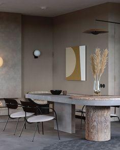 Stunning home visualisation - via Coco Lapine Design blog Luxury Dining Tables, Luxury Dining Room, Modern Dining Table, Dining Room Design, Dinning Table, Kitchen Design, Design Apartment, Interiores Design, Modern Interior