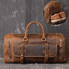 Leather Duffel Travel Gym Overnight Weekend Leather Bag Classic Round Genuine Leather Travel Bag Men Vintage Travel Duffel bag Cow Leather by Giftoyou on Etsy Mens Travel Bag, Travel Bags, Cheap Travel, Leather Duffle Bag, Leather Bags, Mens Leather Laptop Bag, Leather Briefcase, Cabin Bag, Cow Leather