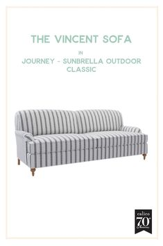 A performance fabric wonder that's as fun and fabulous as it is durable! The Vincent Sofa is so simple and elegant, which is why the personality-packed Journey - Sunbrella Outdoor - Classic fabric with its beautiful white backdrop and dotted black stripes Farmhouse Design, Modern Farmhouse, White Backdrop, Contemporary Home Decor, Farmhouse Furniture, Classic House, Furniture Collection, Cottage Style, Diy Room Decor