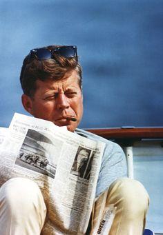JFK and cigar