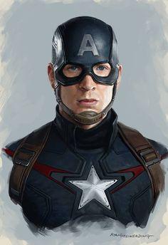 Avengers: Age of Ultron - Captain America concept art by Ryan Meinerding *