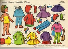 10 láminas muñecas recortables eva. nº 851 al 8 - Comprar Muñecas en todocoleccion - 45113183 Holly Hobbie, Diy And Crafts, Paper Crafts, Just For Fun, Doll Accessories, Retro, Paper Dolls, Origami, Disney Characters