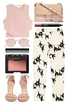 """""""Never let your emotions overpower your intelligence"""" by miss-magali-mnms ❤ liked on Polyvore featuring Jonathan Simkhai, Stuart Weitzman, TIBI, Krewe, GHD, NARS Cosmetics and Chloé"""