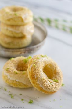 Baked Key Lime Pie Donuts | www.tasteandtellblog.com