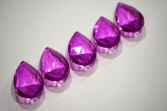 New 5 Orchid Pink 50mm Chandelier Crystals Prisms by venusandstars