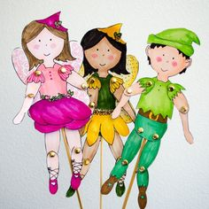 Grab these free templates, color in your own fairies and elves, and turn them into puppets with a few things you have around the house!