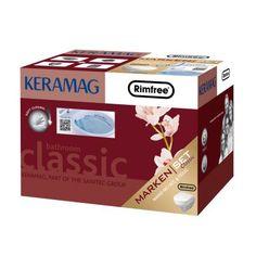 Keramag Keramag Revova Nr. 1 Keramik Set Wand-WC spülrandlos mit WC-Sitz