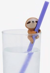 Now you can have these are reusable straws with on it a super cute sloth and you get two straws in this set of sloth straws. Cute Baby Sloths, Baby Otters, Cute Sloth, Baby Animals, Cute Animals, Baby Giraffes, Wild Animals, Sloth Cakes, Animal Photography