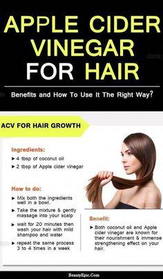 Benefits of Apple Cider Vinegar for Hair #hairloss