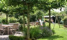 Garten mit Spielbereichen
