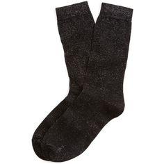 Brooks Brothers Glitter Socks ($4.80) ❤ liked on Polyvore featuring intimates, hosiery, socks, accessories, socks/tights, - socks, black, brooks brothers socks, brooks brothers and black hosiery