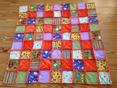 Rag quilt for baby Martin