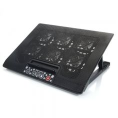 New 2 USB adajustable Cooling Cooler Pad with 6 Fans LED for 12-17 Laptop PC