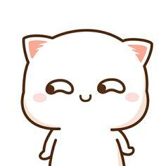 that feeling 😅 Chibi Cat, Cute Chibi, Neko, Kawaii Chan, Cute Kawaii Animals, Cute Love Gif, Anime Cat, Cute Comics, Cute Cartoon Wallpapers