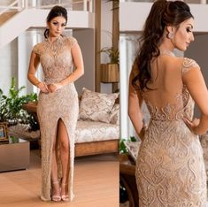 vestido de festa bordado Gold Prom Dresses, Party Wear Dresses, White Wedding Dresses, Quinceanera Dresses, Cute Dresses, Beautiful Dresses, Evening Dresses, Bridesmaid Dresses, Formal Dresses