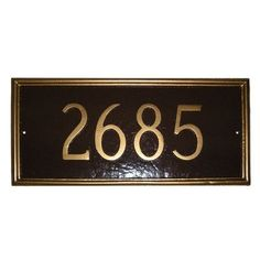 Montague Metal Products Melilla Rectangle Address Plaque Finish: Taupe / White, Mounting: Lawn