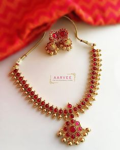 Silver jewelry handmade - Gorgeous Jewelleries For The Festive Days Ahead – Silver jewelry handmade Silver Jewellery Indian, Gold Jewellery Design, Temple Jewellery, Ruby Necklace Designs, Ruby Jewelry, Silver Jewelry, India Jewelry, Jewelry Art, Gold Jewelry Simple
