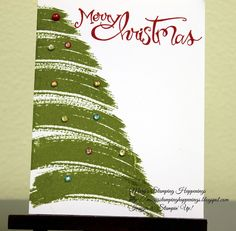 Work of Art Christmas Tree Pin Now View Later There's a Card Thursday Christmas Card from Work of Art Stamp Set from Stampin' Up!. To order any of the Stampin' Up! products you can go to http://marytrautner.stampinup.net To see some more projects subscribe to my blog at http://marysstampinghappenings.blogspot.com or follow me on facebook at https://www.facebook.com/MaryTrautnerStampinUp