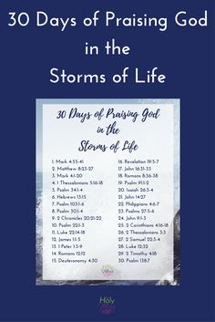 Use this Bible reading plan to praise God in life's storms & trials. Get the free 30 Days of Praising God in the Storms of Life reading plan here. Days Of Praise, Prayer Of Praise, Praise And Worship, Prayer Verses, Praise God Quotes, Prayer Book, Bible Prayers, Bible Scriptures, Bible Quotes