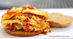 Gourmet Girl Cooks: Hash Brown Omelet Breakfast Sandwich - Low Carb