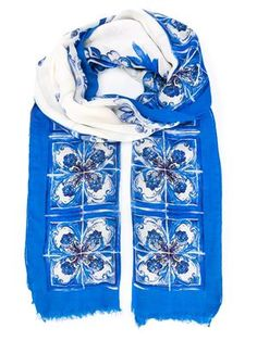 Majolica print scarf