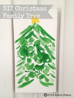 DIY Christmas Footprint Family Tree