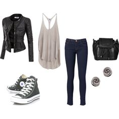 Derek Hale Inspired Outfit by nicklechalupnik on Polyvore featuring Mlle Mademoiselle, Doublju, J Brand, Converse and Topshop