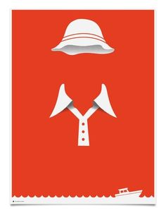 Gilligans Island minimalist art poster of Gilligan