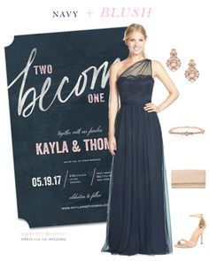 Navy Blue Blush Wedding Style Idea And Gold Colors