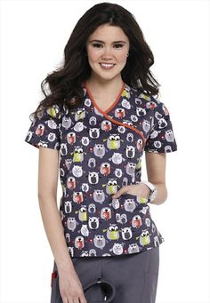 Dickies EDS Owl Be Your Friend print scrub top. I actually bought these for work!!! aahhhhhhhh