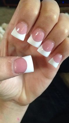 cute french tip acrylic