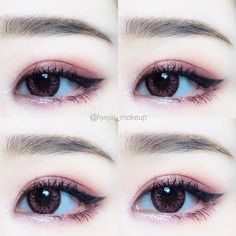Eye makeup can greatly enhance your beauty and also make you look dazzling. Find out how to apply makeup products so that you can easily show off your eyes and impress. Discover the very best tips for applying make-up to your eyes. Korean Makeup Tips, Korean Makeup Look, Korean Makeup Tutorials, Asian Makeup, Make Up Tutorials, Makeup Eyeshadow, Makeup Brushes, Makeup Tutorial Eyeliner, Korean Make Up
