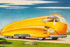 Illustration of a Futuristic Fuel Oil Truck Arte Sci Fi, Sci Fi Art, Illustrations, Illustration Art, Pub Vintage, Days Of Future Past, Fine Art Prints, Canvas Prints, Retro Futuristic